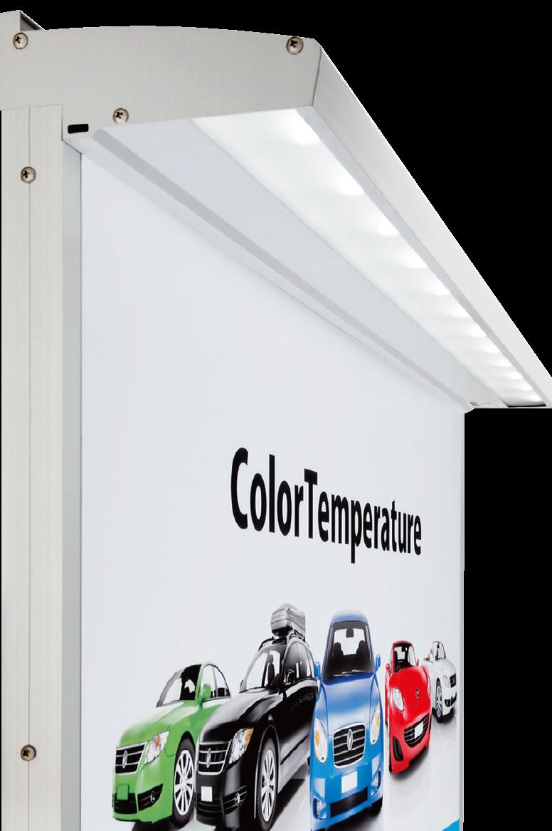 外照式 看板用LED照明 アドビュー:蛍光灯・スポット照明に替わる新しいLED照明