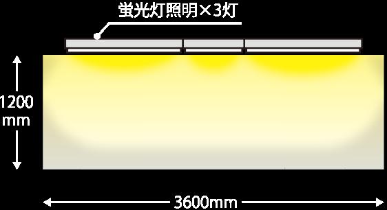 一般的な看板の蛍光灯照明