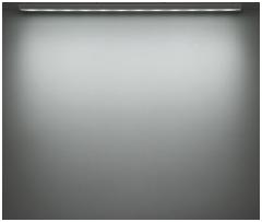 看板照明のLED色温度別照射イメージ:昼光色(6500K)アドビューN W1200-65Kの場合