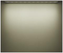 看板照明のLED色温度別照射イメージ:昼白色(5000K)アドビューN W1200-50Kの場合
