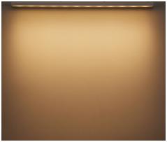 看板照明のLED色温度別照射イメージ:電球色(3000K)アドビューN W1200-30Kの場合