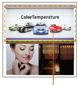 看板照明のLED色温度メディア照射イメージ:昼光色(6500K)アドビューN W1200-65Kの場合