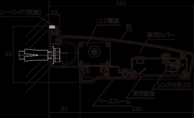 看板照明:アドビューNの構造図2