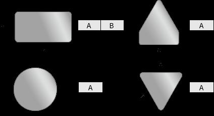 規格品 四角板・五角板・丸板・三角板の形状