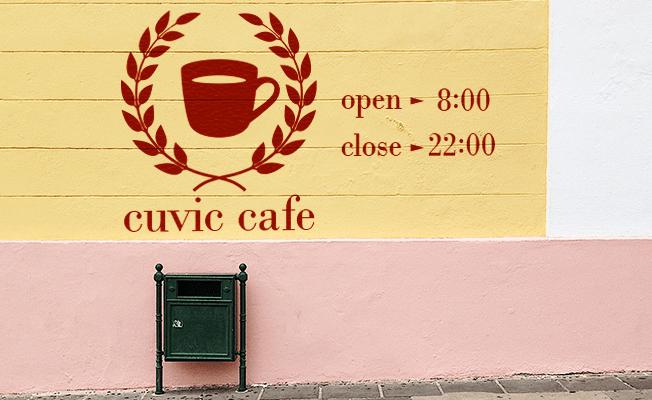 カッティング用の壁面シート長期タイプ[カラータイプ]外壁に大きくロゴを貼ってアイキャッチに
