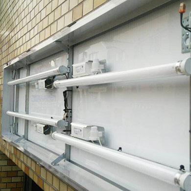 ファサード・壁面看板施工事例写真 神奈川県 蛍光灯を使った内照式の看板になります