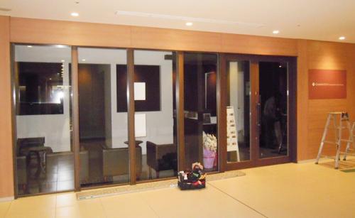 ウィンドウサイン・窓ガラス看板施工事例写真 東京都 新規開業予定のきれいなオフィスです