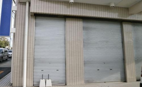 ウィンドウサイン・窓ガラス看板施工事例写真 愛知県 施工事例前の現場写真です