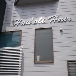 箱文字・切り文字看板施工事例写真 愛知県 オープンに間に合うよう急ぎで大変でしたが箱文字もとても綺麗です
