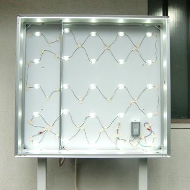 自立・野立て看板施工事例写真 大阪府 自立看板の光源ももちろんLEDです