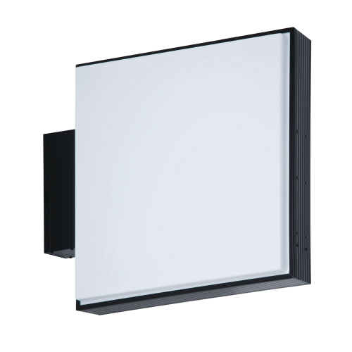 【蛍光灯】アルミサイン小型「角」突出し看板AD-2208 ブラック