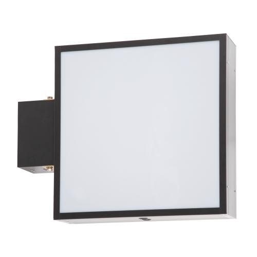 【蛍光灯】アルミサイン200巾平板面板「角」突出し看板AD-2220 ブラック