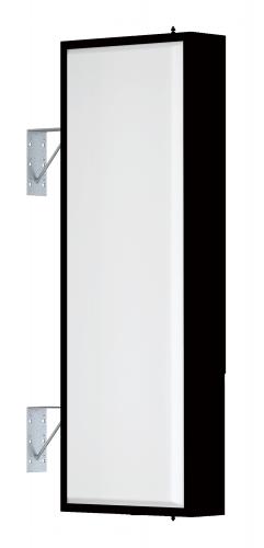 【LED照明】アルミサイン4尺「角」突出し看板AD-4515E-LED ブラック