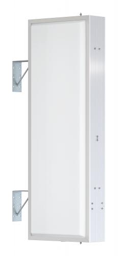 【LED照明】アルミサイン4尺「角」突出し看板AD-4515E-LED シルバー