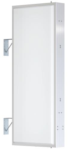 【LED照明】アルミサイン5尺「角」突出し看板AD-5215E-LED シルバー