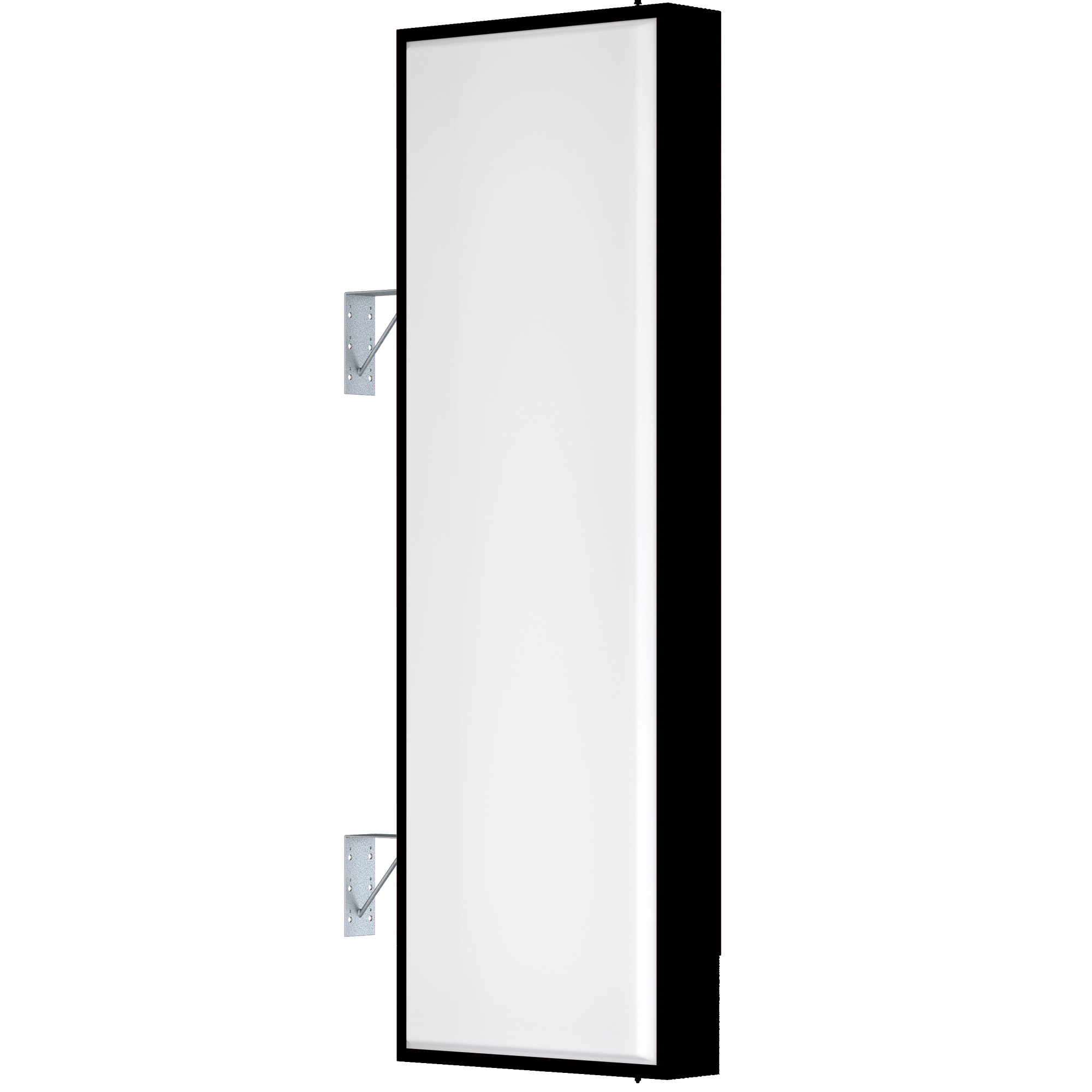 【LED照明】アルミサイン6尺「角」突出し看板AD-6215E-LED ブラック