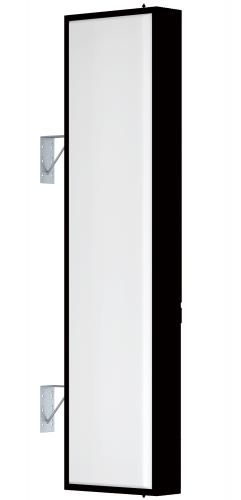 【LED照明】アルミサイン6尺「角」突出し看板AD-6515E-LED ブラック