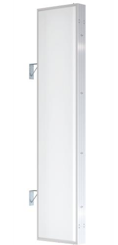 【LED照明】アルミサイン9尺「角」突出し看板AD-9215E-LED シルバー