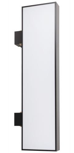 【蛍光灯】アルミサイン200巾平板面板「角」突出し看板AD-9220 ブラック