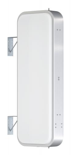 【LED照明】アルミサイン4尺「角丸」突出し看板ADR-4515E-LED シルバー