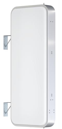 【LED照明】アルミサイン5尺「角丸」突出し看板ADR-5215E-LED シルバー