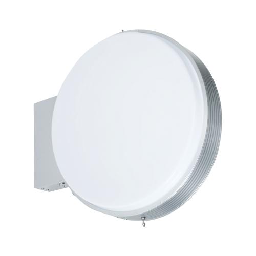 【LED照明】アルミサイン小型「丸」突出し看板ADS-6008E-LED シルバー