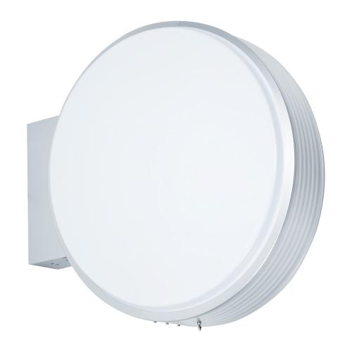 【LED照明】アルミサイン小型「丸」突出し看板ADS-9015E-LED シルバー