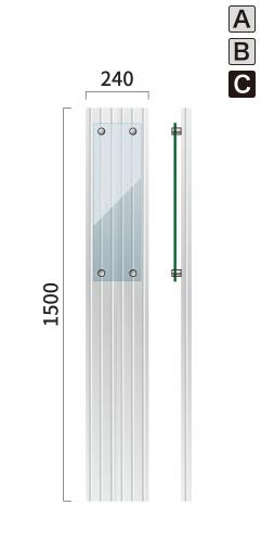 ギア GC-10 タワーサイン シルバー, ブラック