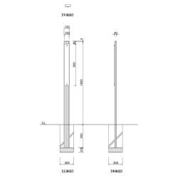 【構造図】 ギア GC-8 タワーサイン シルバー, ブラック