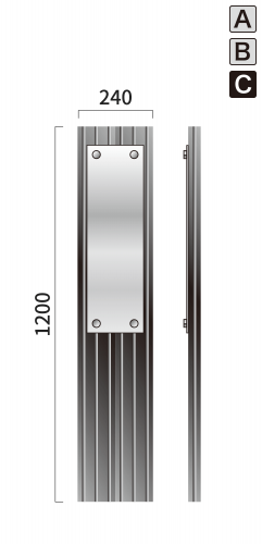ギア GC-9 タワーサイン シルバー, ブラック