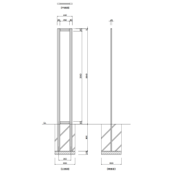 【構造図】 ギアモンブラン タワータイプ GT-9 タワーサイン シルバー, ホワイト, ブラック