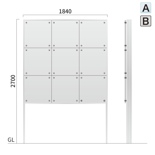 ギアワイルド GW-5 タワーサイン アクリル,アルミ