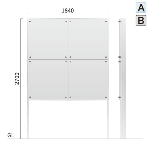 ギアワイルド GW-8 タワーサイン アクリル,アルミ