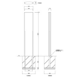 【構造図】 ソレイユ SOL6030 タワーサイン ステンカラー