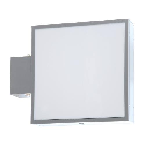 【蛍光灯】アルミサイン200巾平板面板「角」突出し看板AD-2220 シルバー