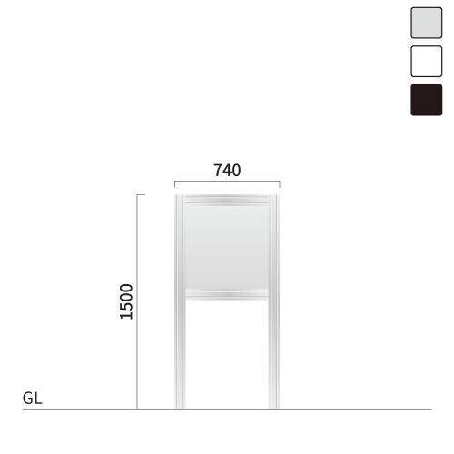 ギアモンブラン GM-1 タワーサイン シルバー, ホワイト, ブラック