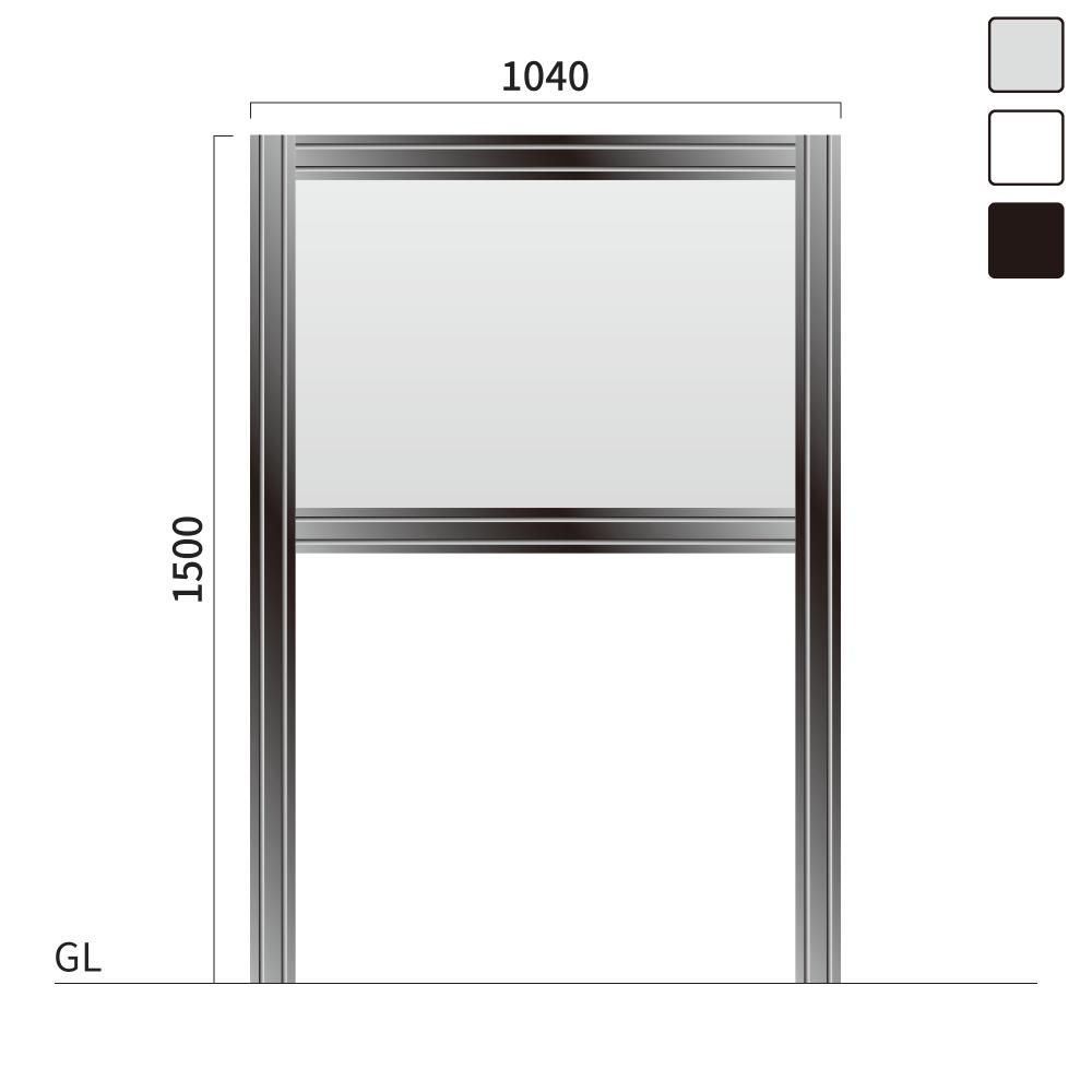 ギアモンブラン GM-2 タワーサイン シルバー, ホワイト, ブラック