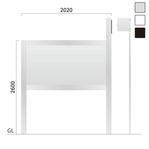 ギアモンブラン GM-5 タワーサイン シルバー, ホワイト, ブラック