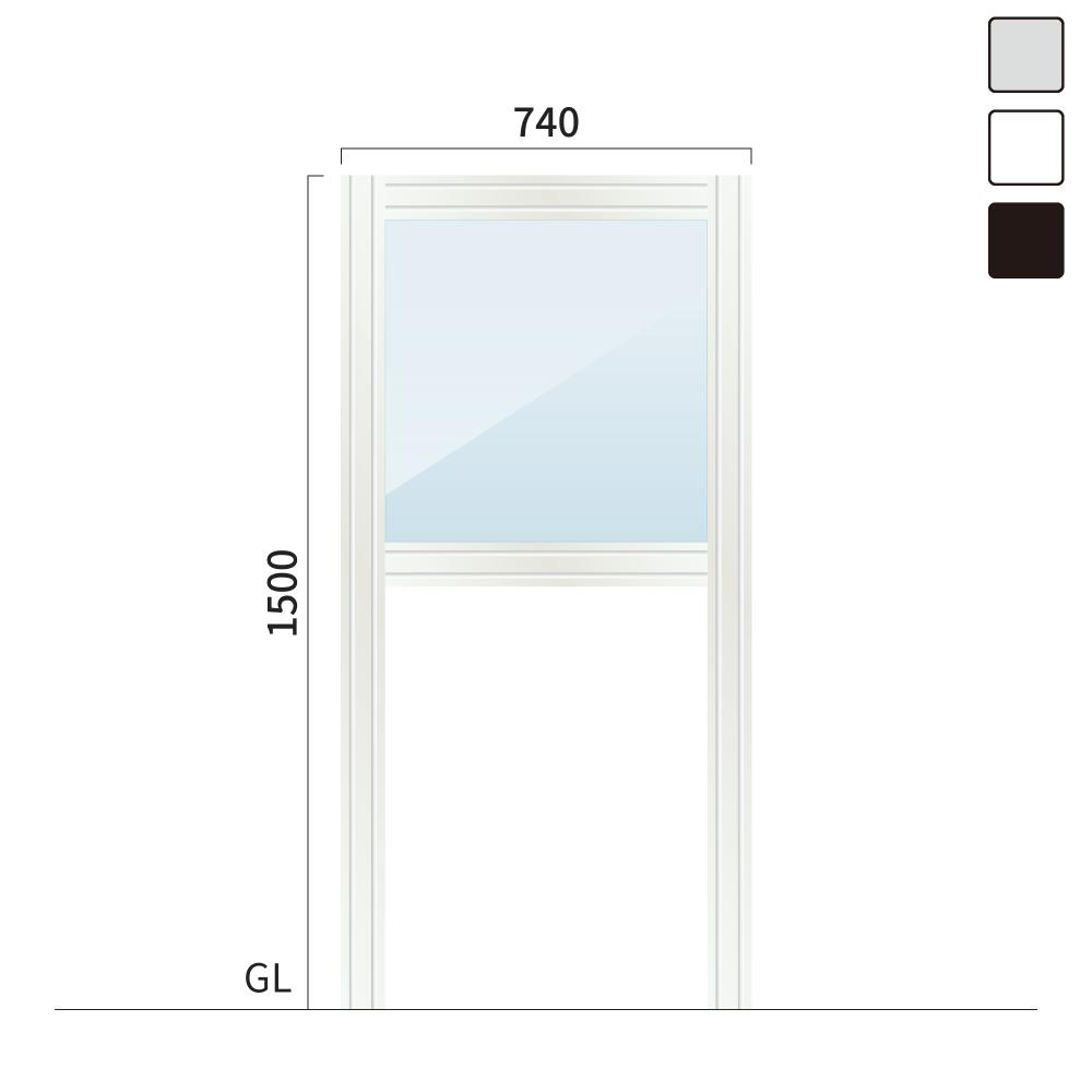 ギアクリア GMC-1 タワーサイン シルバー, ホワイト, ブラック