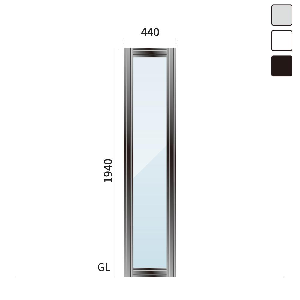 ギアクリア GMC-3 タワーサイン シルバー, ホワイト, ブラック