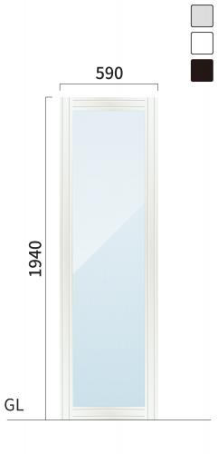 ギアクリア GMC-4 タワーサイン シルバー, ホワイト, ブラック