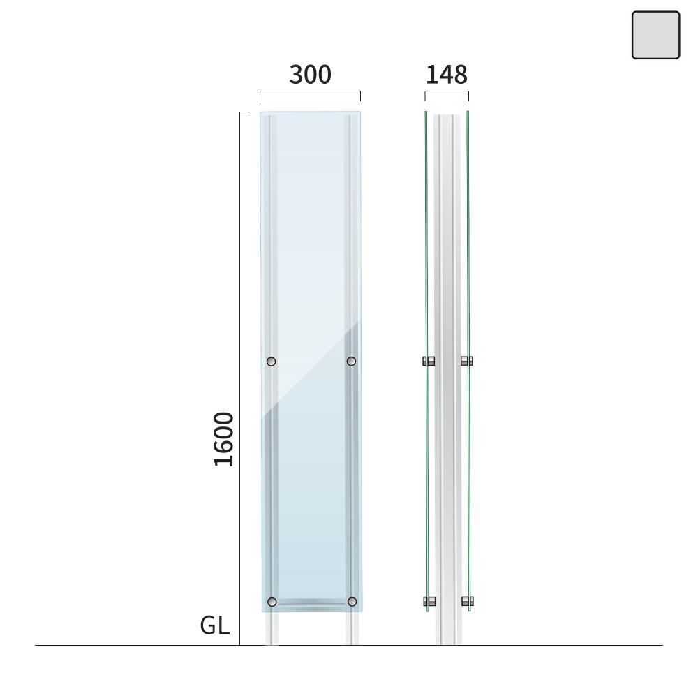 ギアクリア GMC-6 タワーサイン シルバー