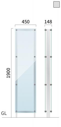 ギアクリア GMC-7 タワーサイン シルバー