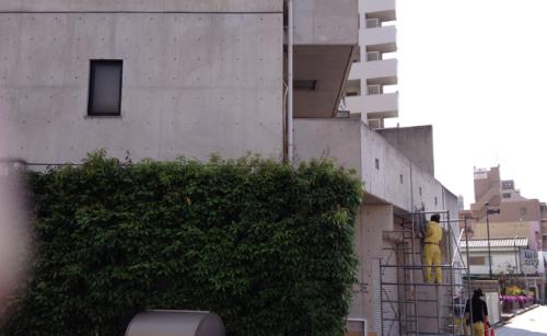 ファサード・壁面看板施工事例写真 大阪府 施工前の現場です
