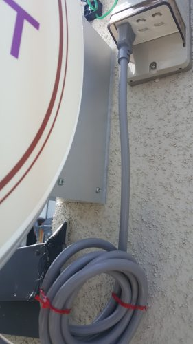 突き出し看板・袖看板施工事例写真 東京都 一次電源がない場合弊社でも対応可能です
