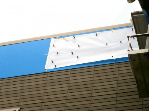 箱文字・切り文字看板施工事例写真 愛知県 壁面箱文字サインは、L型の金物を用いての取付になります