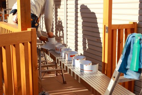 ファサード・壁面看板施工事例写真 愛知県 シャッターサイン用のシート