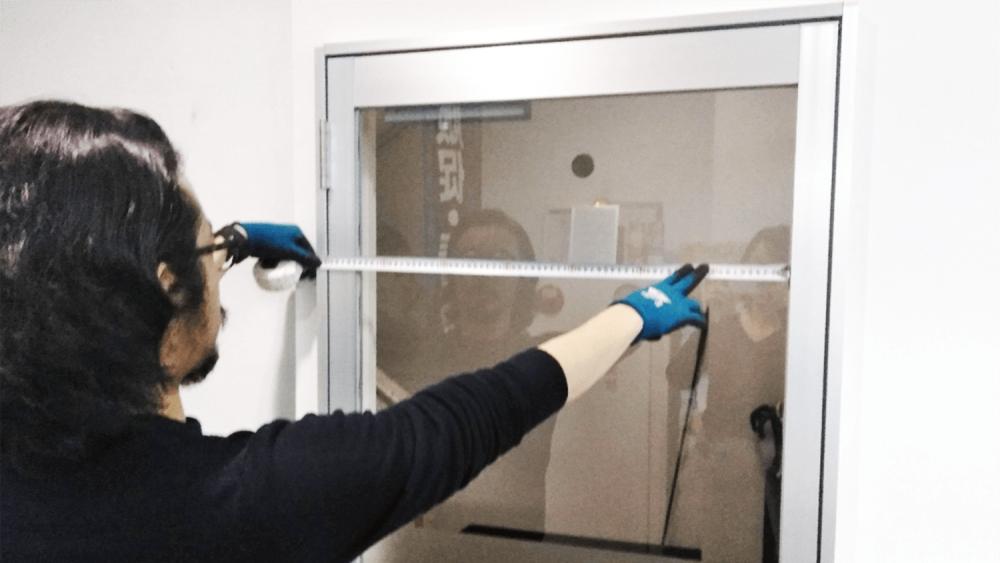 看板デザイン作成のコツと注意点【窓ガラスシート編】-窓ガラスの採寸方法