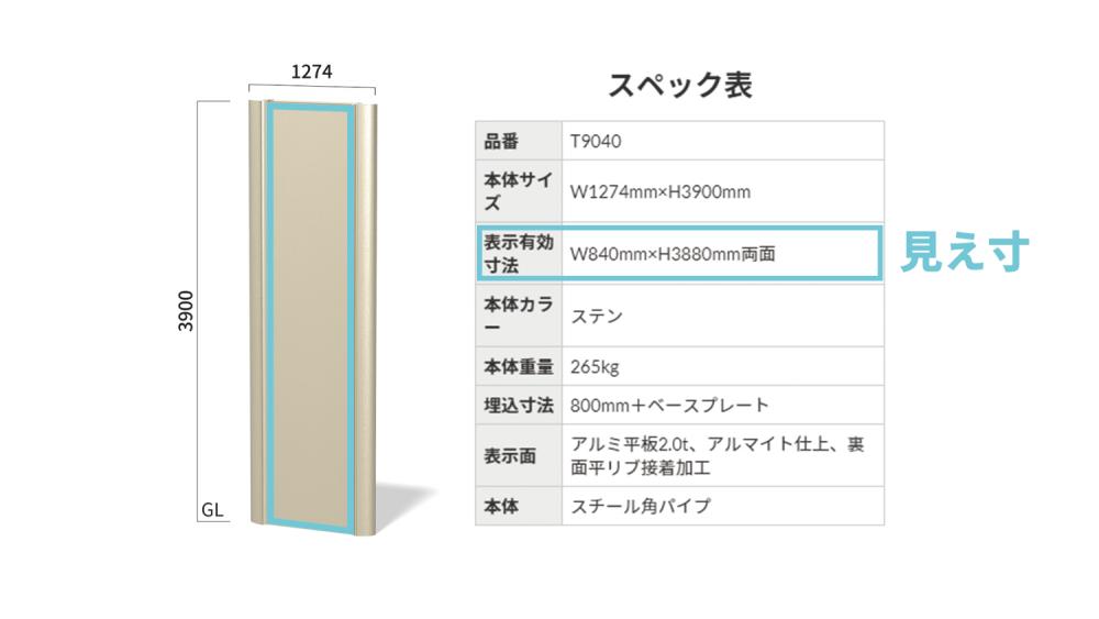 看板デザイン作成のコツと注意点【自立看板編】-表示有効寸法(見え寸)のサイズの見方