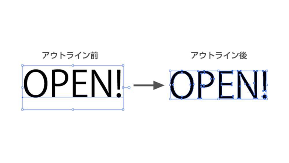 看板デザインの作成方法と入稿時の注意点-フォントのアウトライン化